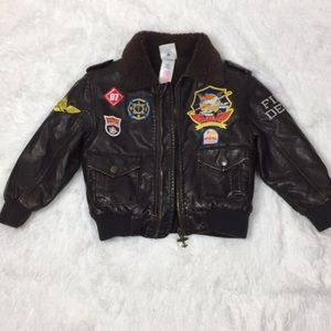 Disney Planes Fire & Rescue Faux Leather Bomber
